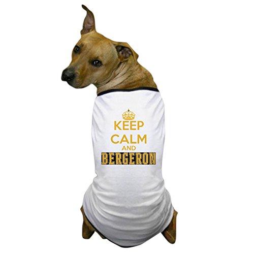 CafePress - Keep Calm and Bergeron Tee Dog T-Shirt - Dog T-Shirt, Pet Clothing, Funny Dog Costume (Hockey Costume Dog)