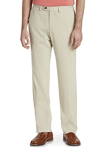 Silk Front Flat Pants (Tommy Bahama Flat Front Silk Blend Pants (Color Abbey Stone, Size 34X34))