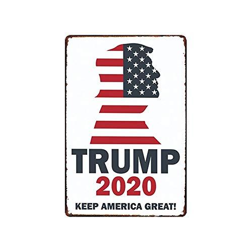 - Donald Trump 2020 Presidential Election Metal Tin Sign Wall Decor Man Cave Bar Keep America Great 12