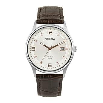 Prisma Silver Titanium Heren horloge P1728