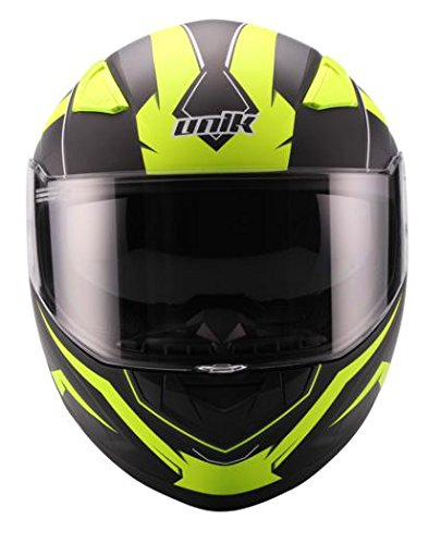 Amazon.es: UNIK - Casco Integral FLASH con Pinlock y Pantalla solar interior, Negro y Amarillo Fluor (M)