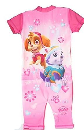 7a805daea0 Paw Patrol Skye   Everest Girls Swimsuit 50+ UV Sun Protection Kids Swimming  Costume (18-24 Months)  Amazon.co.uk  Clothing