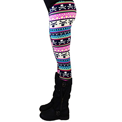 (ZEFOTIM Casual Women Lady Skinny Geometric Print Stretchy Jegging Pants Slim Leggings (XL,Multicolor-4) )