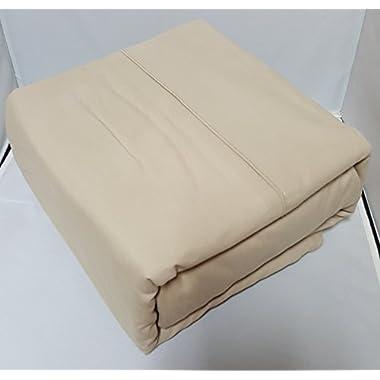 Organic Cotton Sheet Set - 600 Thread Count - 100% Cotton 4pc Bed Sheet Set - (Queen, Sand)