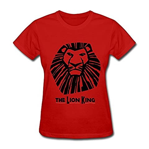KAITIAN The Lion King The Landmark Musical Event Women's Cotton T-shirt Red Size M (Funko Pop Lion King Set)