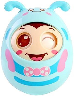 Newin Star Tentetiesos,Juquete de Tentetieso para los Niños y Bebé con Sonido diseño de Abeja Linda (Azul)