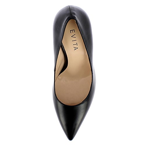 Vestir Zapatos De Alina Negro Evita Para Piel Shoes Mujer ITx6tqw