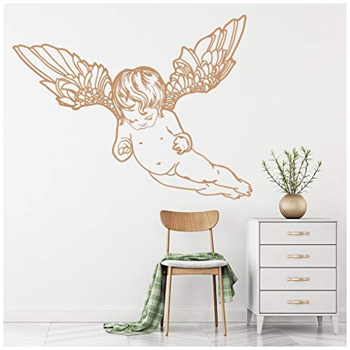 Flying Cherub - banytree Flying Cherub Wall Sticker Angels & Wings Wall Decal Bedroom Home Decor Small