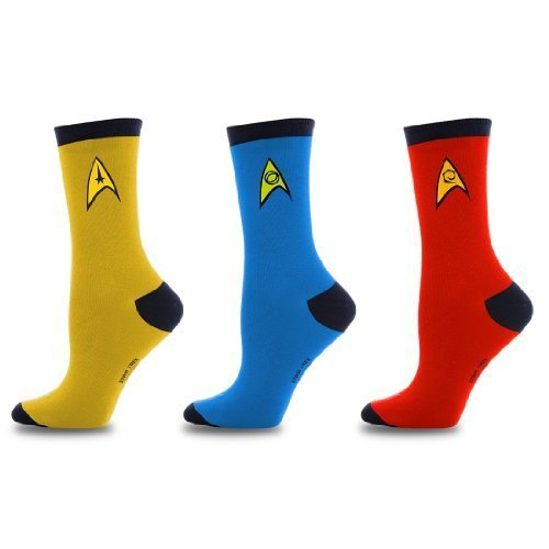 [Star Trek Uniform Socks -- Command - Science - Engineering -- Set Of 3 Pairs, Assorted Colors, Men's] (Star Trek Uniform Shirts)