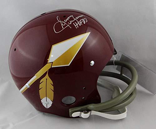 Sonny Jurgensen Signed W/HOF Washington Redskins F/S TK Spear Helmet Silver Top JSA W Auth