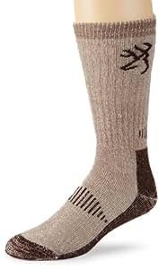 Browning Hosiery Men's Deluxe Merino Wool Sock, 2 Pair Pack (Brown, Medium)