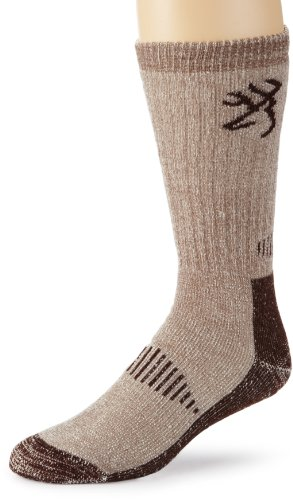 Browning Hosiery Men's Deluxe Merino Wool Sock, 2 Pair Pack (Brown, Medium)