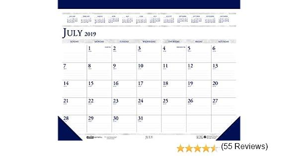 July House of Doolittle 2019-2020 Monthly Desk Pad Calendar HOD155 ...
