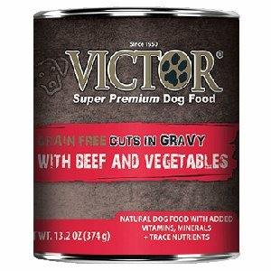 Victor Grain Free Cuts in Gravy with Beef and Vegetables Canned Dog Food 13.2oz 12 Case