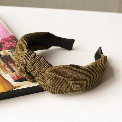 MultiKing Headband Hair Accessories Headdress Japan and South Korea Simple Hair Ornaments Headdress Sweet Gold Velvet Wild Wide Edge, ()