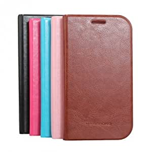 Flip-Open PU Leather Protective Case For Samsung Galaxy S3 i9082 --- Color:Brown