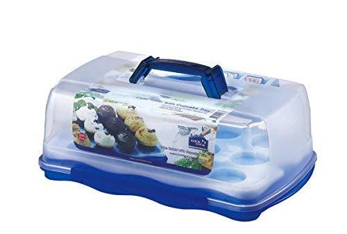 LOCK & LOCK Cake Storage Box with-Cup Cake Tray