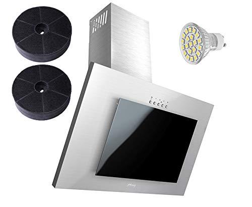 Haag Vertical C Acero Inoxidable + Negro Cristal + LED, filtro de ...