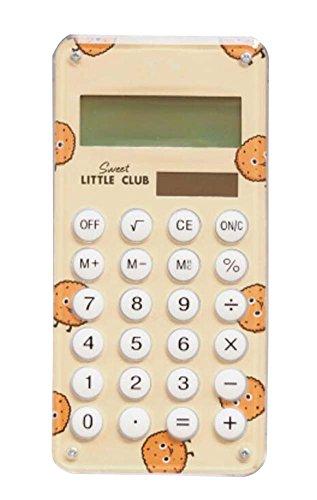Fashionable Solar Calculator Cute Portable Calculator, Yellow by DRAGON SONIC
