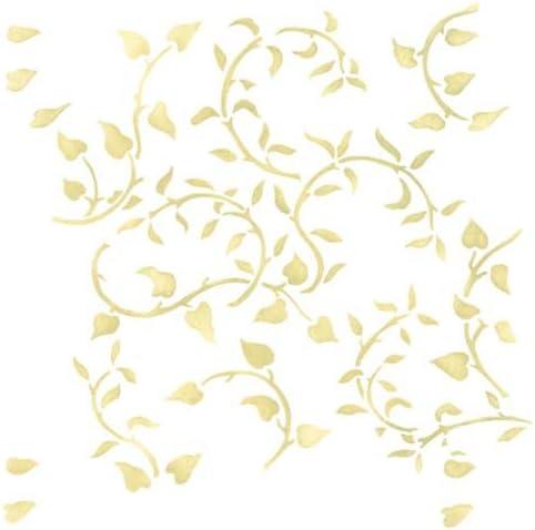 Designer Stencils Leafy Wallpaper Wall Stencil SKU #3290