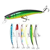Search : Sunnysport Fishing Lures, Crankbait Kit Mixed, Carp Pike Whopper Plopper Floating Rotating Tail Topwater- Minnow Spinner Blade Baits Jigging Swimbait for Trout Salmon Bass CRA(6/10/5/9/8 pcs)