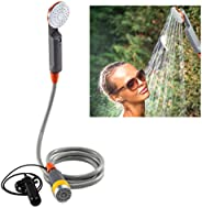 Ivation Portable Camping Shower   Compact Handheld & Hands-Free Rechargeable Outdoor Shower Head & Cle