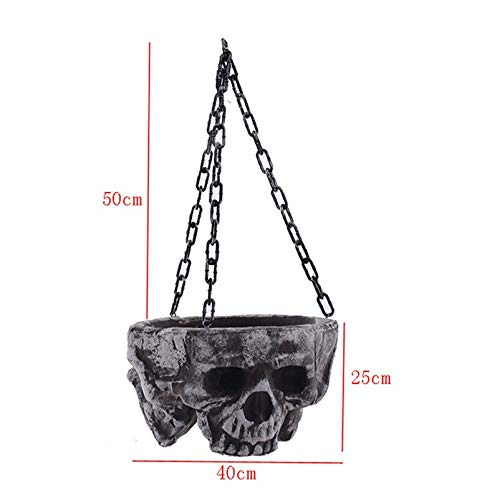 Spooky Halloween Hanging Decor Scary Skull Head Haunted
