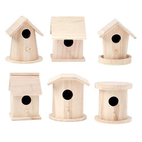 Diy birdhouse amazon bulk buy darice diy crafts wood birdhouse finch promo assortment 5 7 inches each 6 pack 9180 10 solutioingenieria Gallery