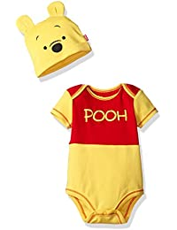 Disney Boys' Winnie the Pooh Bodysuit with Cap Set