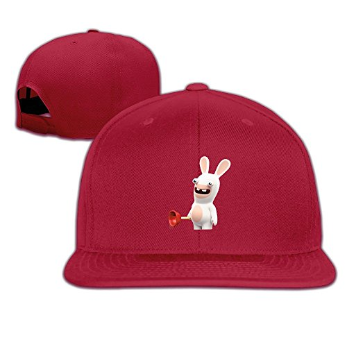 YYHU Cartoon Crazy Rabbit Baseball Cap Red (Rabbids Invasion Halloween)