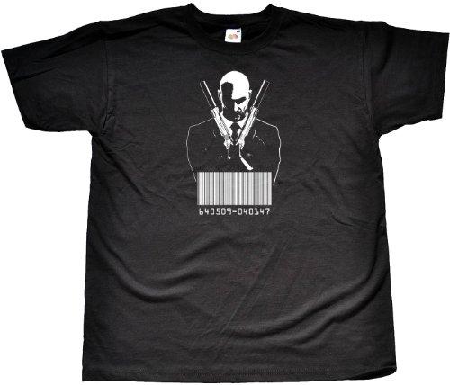 Live Adult T-shirt - Teamzad Agent 47 Barcode T Shirt XX-Large Black