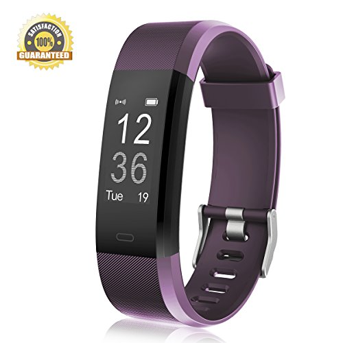 Fitness Tracker Heart Rate Monitor Gemeita Sport Smart Wristband IP67 Waterproof Wearable Activity Tracker with Steps&Calorie Burned and Distance Counter Sleep Monitor Pedometer (purple) (9 Heart Sport)