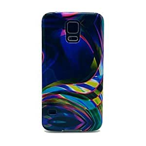 Colorful Belts Pattern TPU Soft Case Cover for Samsung Galaxy S5 I9600