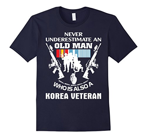 Men's Korean War Veteran Shirt - Best Gift For Veteran Day Medium Navy