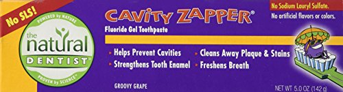 Natural Dentist Tpaste,Kids Cab Zap,Grape, 5oz 2pk