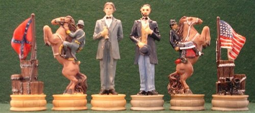 Civil War Themed Chess Pieces - Piece Chess Themed War
