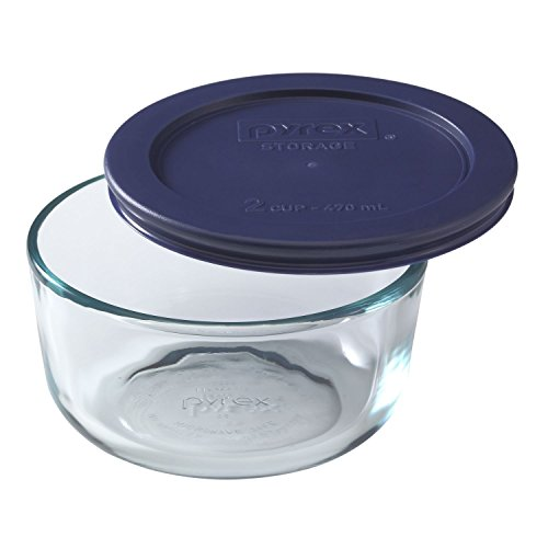 Microwave Pyrex Safe (Pyrex Simply Store 2-Cup Round Glass Food Storage Dish)