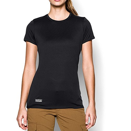 Under Armour Women's Tech Tactical Short Sleeve Shirt, Black (001), Medium