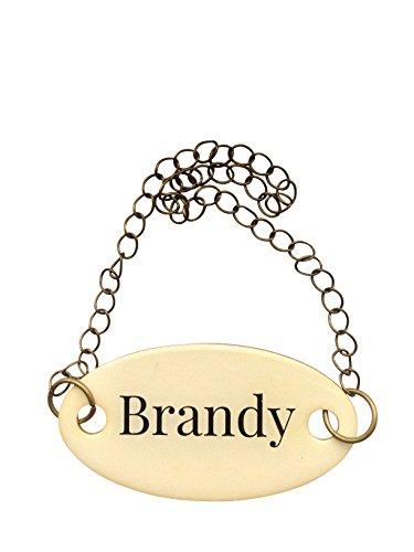 Duke Baron Vintage Brass Tag, Brandy with Chain (Brandy Vintage)