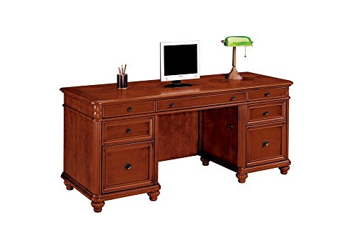 Antigua Kneehole Credenza West Indies Cherry Finish Dimensions: 72''W x 24''D x 30''H Weight: 263 lbs by DMI Furniture