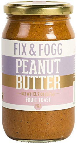 Gourmet Peanut Butter with Cinnamon, Apple and Raisins. Handmade in New Zealand. All natural and Non-GMO by Fix & Fogg. Vegan, Keto Friendly. Superior Tasting PB in a Beautiful Canister - Cream Butter Peanut Ice