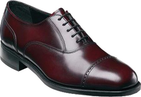 Florsheim Heren Lexington Cap Teen Oxfords, Wine, 10.5 3e