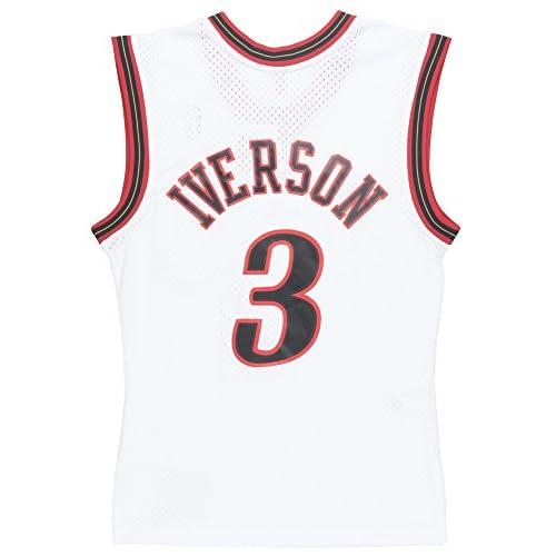 quality design 4f2f0 23cc9 Allen Iverson Philadelphia 76ers Mitchell & Ness Swingman ...