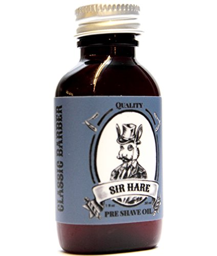 Premium Shaving Oil By Sir Hare. Works with Any Razor and with Any Shaving Cream, Gel or Shaving Soap. Pairs with Sir Hare Barbershop Shaving Soap