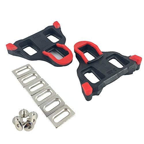 Thinvik Road Bike Cleats 0 Degree Float Self-Locking Cycling Pedals Cleat for Shimano SH-10 SPD-SL System Shoes