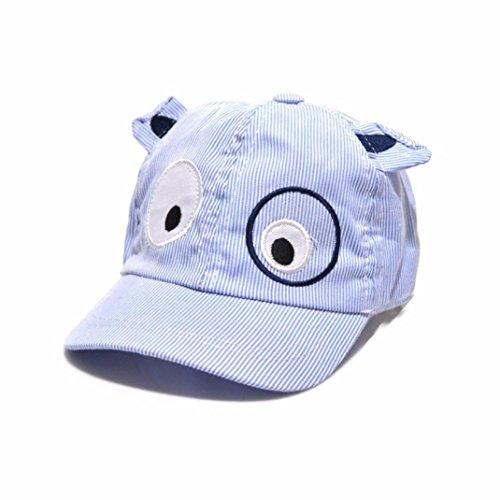 (Lanhui Kid Sun Hat Beret Cute Cartoon Dog Baseball Cap for Boy Girl Adjustable (Blue, Hat Circumference: 50cm))