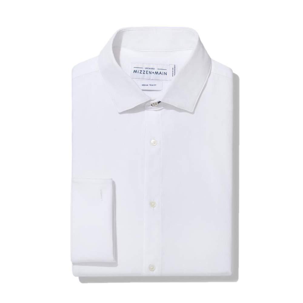 Mizzen + Main Connery Mens Slim Fit Tuxedo Shirt, Medium, Solid White by Mizzen + Main