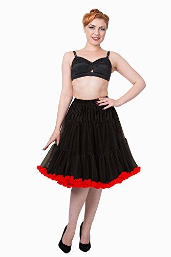 Dancing Days - Falda - enaguas - para mujer Rouge - Noir/rouge