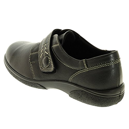 Women's DB easy b HEALEY Classic Casual Leather Shoes for Wider Feet EE Fitting (4.5 UK, Black)