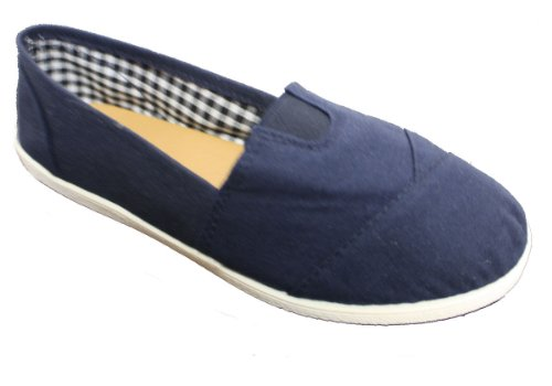 Dona Michi Womens Canvas Slip on Shoes Blue 6X1q2b